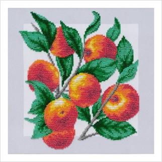 """Ткань с печатью для вышивки бисером """"Яблочки"""""""