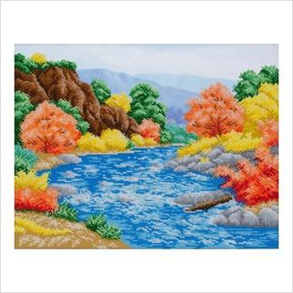 """Ткань с печатью для вышивки бисером """"Багряная осень"""""""