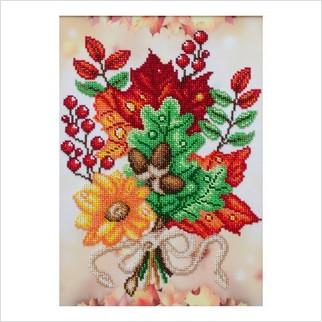 """Ткань с печатью для вышивки бисером """"Краски осени"""""""