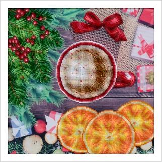 """Ткань с печатью для вышивки бисером """"Новогоднее настроение"""""""