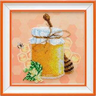 """Ткань с печатью для вышивки бисером """"Цветочный мед"""""""