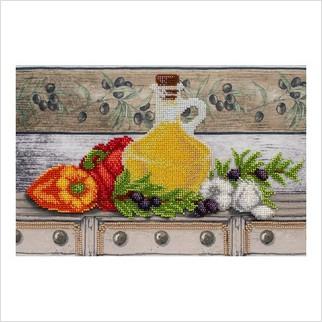 Полочка с маслинами - Т-1189 - ВДВ - Схема для вышивки бисером - Натюрморты