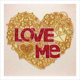 Люби меня - Т-1219 - ВДВ - Схема для вышивки бисером - Символика Орнамент
