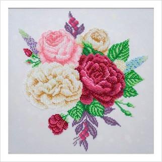 Весенний букет - Т-1226 - ВДВ - Схема для вышивки бисером - Цветы