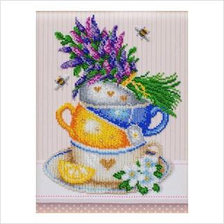 Травяной чай - Т-1230 - ВДВ - Схема для вышивки бисером - Натюрморты