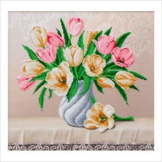 Нежный букет - Т-1253 - ВДВ - Схема для вышивки бисером - Цветы