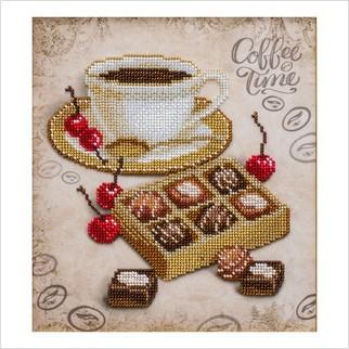 Конфеты к кофе - Т-1254 - ВДВ - Схема для вышивки бисером - Натюрморты