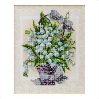 Букет ландышей - Т-1255 - ВДВ - Схема для вышивки бисером - Цветы