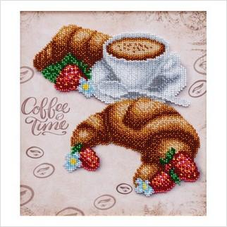 Круассан к кофе - Т-1257 - ВДВ - Схема для вышивки бисером - Натюрморты