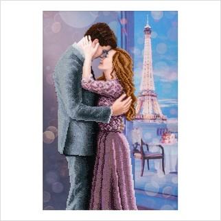 Влюбленные в Париже - Т-1260 - ВДВ - Схема для вышивки бисером - Люди