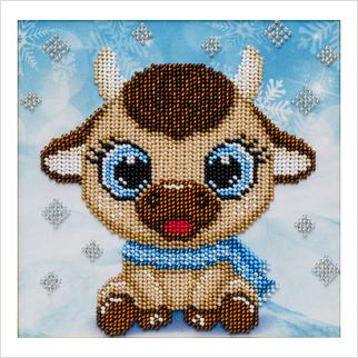 Символ года - Т-1279 - ВДВ - Схема для вышивки бисером - Новый год Детская