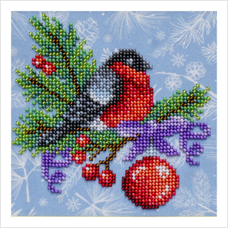 Снегирь - Т-1286 - ВДВ - Схема для вышивки бисером - Новый год Рождество
