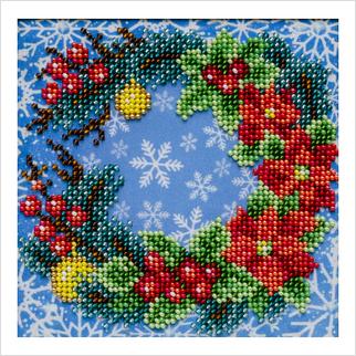 С Рождеством! - Т-1287 - ВДВ - Схема для вышивки бисером - Новый год Рождество