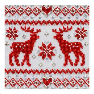 Рождественский орнамент - Т-1289 - ВДВ - Схема для вышивки бисером - Новый год Рождество