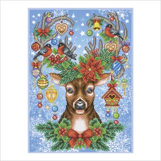 Праздничный уют - Т-1293 - ВДВ - Схема для вышивки бисером - Новый год, Животные