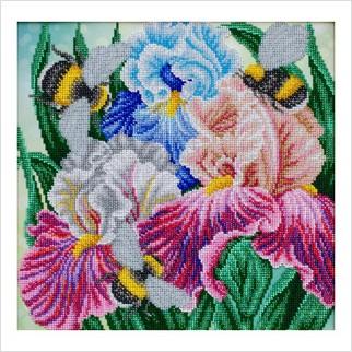 Півники та джмелі - Т-1297 - ВДВ - Схема для вишивки бісером - Квіти