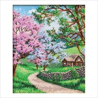 Квітуча весна - Т-1327 - ВДВ - Схема для вишивки бісером - Пейзажи
