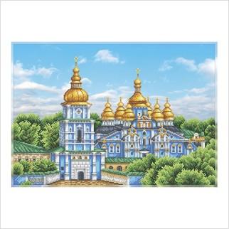 Михайлівський Золотоверхий монастир - Т-1357 - ВДВ - Схема для вишивки бісером - Пейзажі