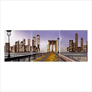"""Ткань с печатью для вышивки бисером """"Манхеттенская мечта (триптих)"""""""