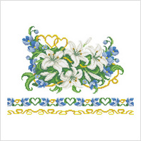 Ткань с печатью для вышивки бисером