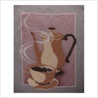 """Ткань с печатью для вышивки бисером ''Аромат кофе"""""""