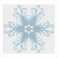 """Схема для вишивки бісером """"Сніжинка"""""""