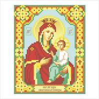 """Ткань с печатью для вышивки бисером иконы ''Богородица Скоропослушница"""""""