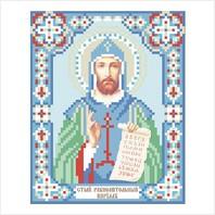 """Ткань с печатью для вышивки бисером иконы ''Святой Кирилл"""""""