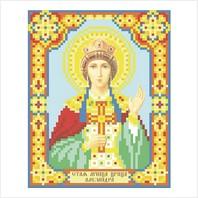 """Ткань с печатью для вышивки бисером иконы ''Святая царица Александра"""""""