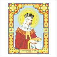 """Ткань с печатью для вышивки бисером иконы ''Святая царица Елена"""""""