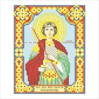 """Ткань с печатью для вышивки бисером иконы ''Святой Георгий"""""""