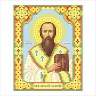 """Ткань с печатью для вышивки бисером иконы ''Святой Василий Великий"""""""