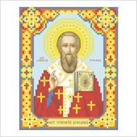 """Ткань с печатью для вышивки бисером иконы ''Святой Григорий Богослов"""""""