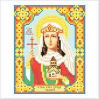 """Ткань с печатью для вышивки бисером иконы ''Святая царица Тамара"""""""