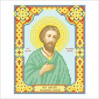 """Ткань с печатью для вышивки бисером иконы ''Святой Алексей"""""""