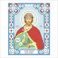 """Ткань с печатью для вышивки бисером иконы ''Святой князь Игорь"""""""