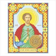 """Ткань с печатью для вышивки бисером иконы ''Святой Валерий"""""""