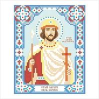 """Ткань с печатью для вышивки бисером иконы ''Святой князь Борис"""""""