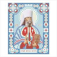 """Ткань с печатью для вышивки бисером иконы ''Апостол Петр"""""""