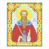 """Ткань с печатью для вышивки бисером иконы ''Святой Геннадий"""""""