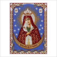 """Ткань с печатью для вышивки бисером иконы ''Богородица Остробрамская"""""""