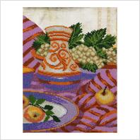 """Ткань с печатью для вышивки бисером ''Натюрморт"""""""