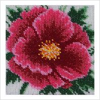 """Ткань с печатью для вышивки бисером ''Китайская роза"""""""