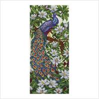 """Ткань с печатью для вышивки бисером ''Райский сад"""""""