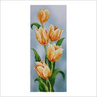 """Ткань с печатью для вышивки бисером ''Желтые тюльпаны"""""""