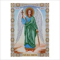 """Ткань с печатью для вышивки бисером иконы ''Ангел Хранитель"""""""