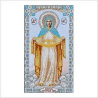 """Ткань с печатью для вышивки бисером иконы ''Покров Пресвятой Богородицы"""""""