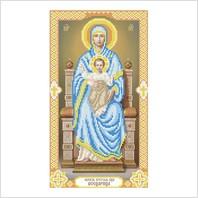 """Ткань с печатью для вышивки бисером иконы ''Богородица Всецарица"""""""