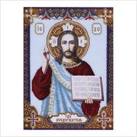 """Ткань с печатью для вышивки бисером иконы ''Господь Вседержитель"""""""