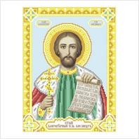 """Ткань с печатью для вышивки бисером иконы ''Святой князь Александр"""""""